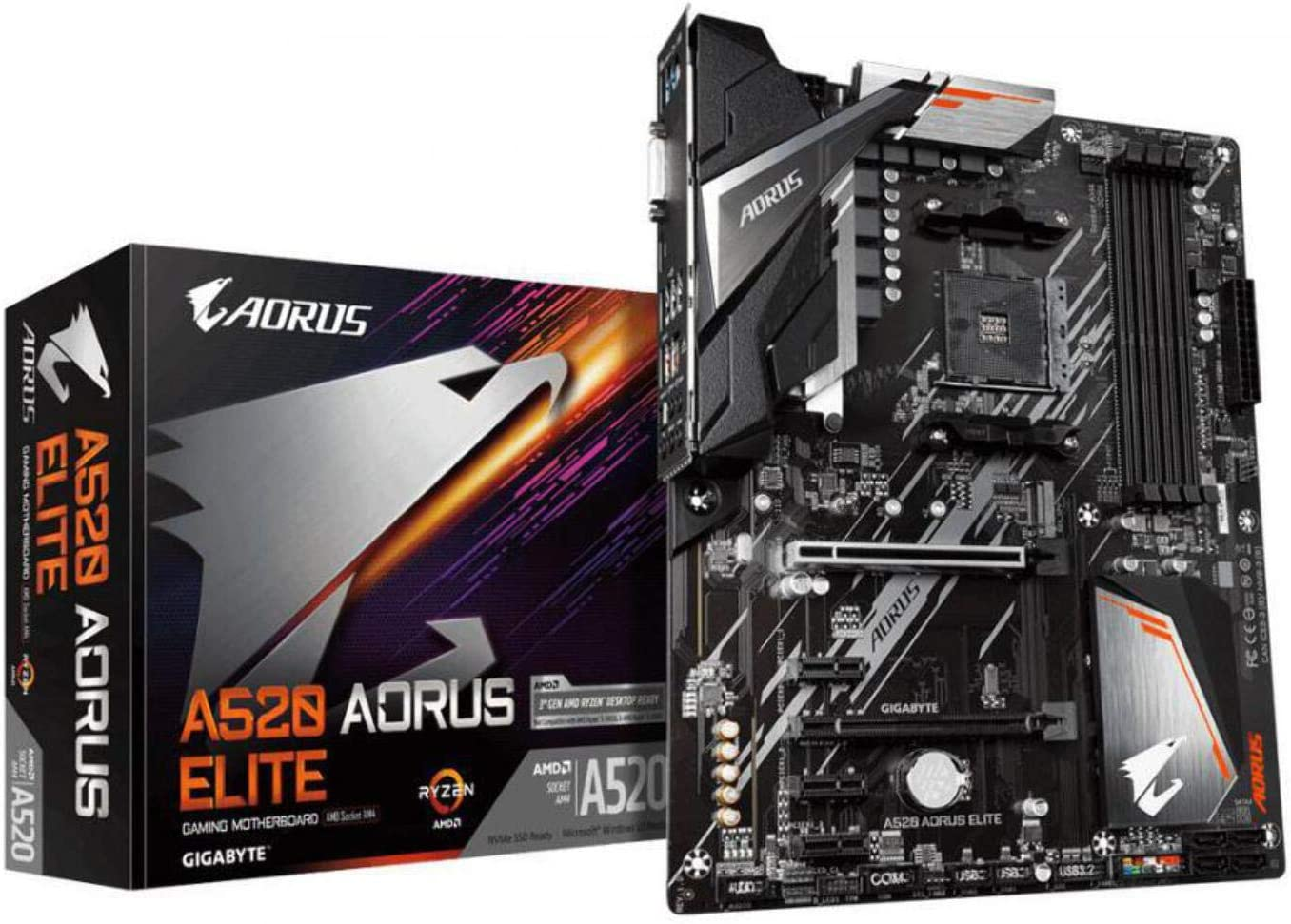 GIGABYTE A520 AORUS ELITE ATX Motherboard for AMD AM4 CPUs