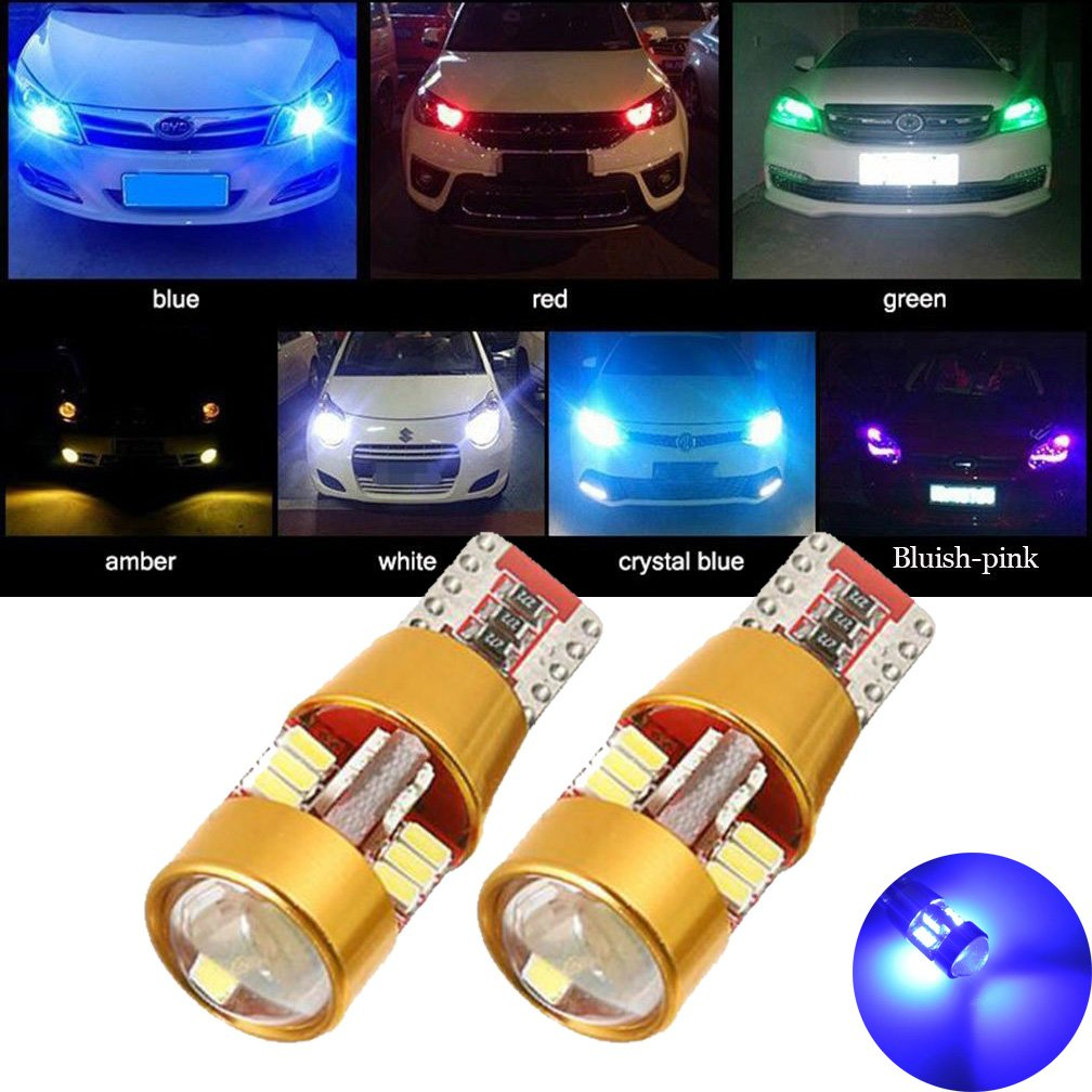 TUINCYN Purple T10 W5W LED Bulb 3014 27SMD Canbus Error Free Wedge Light Used for External Sidemarker Reverse Parking Tail Light Brack Light Stoplight Interior RV Camper Bulb(Pack of 2) BHBAZUALIn5097