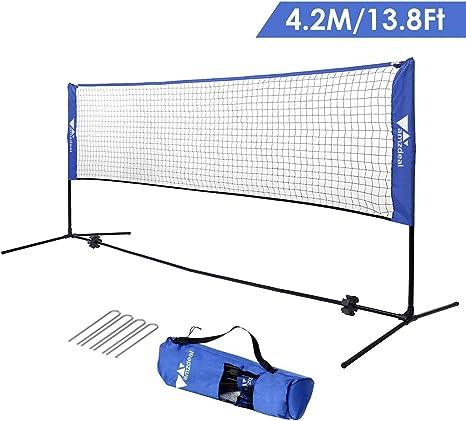 Amzdeal Badminton Net 14ft Portable Net Amazon Co Uk Sports Outdoors