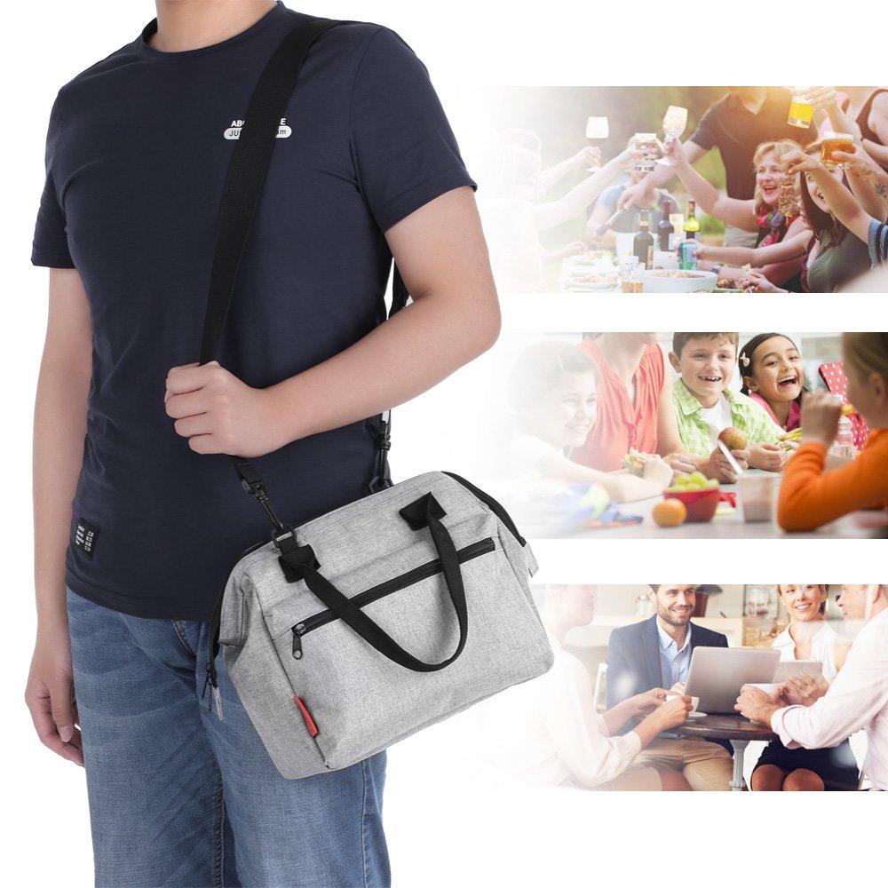 esonmus Bolsa T/érmica Comida 10L Verde Termica Porta Alimentos con Correa Portatil Bolsa de Almuerzo para Adulto Ni/ños Bolsa Nevera Oficina Escuela Viaje