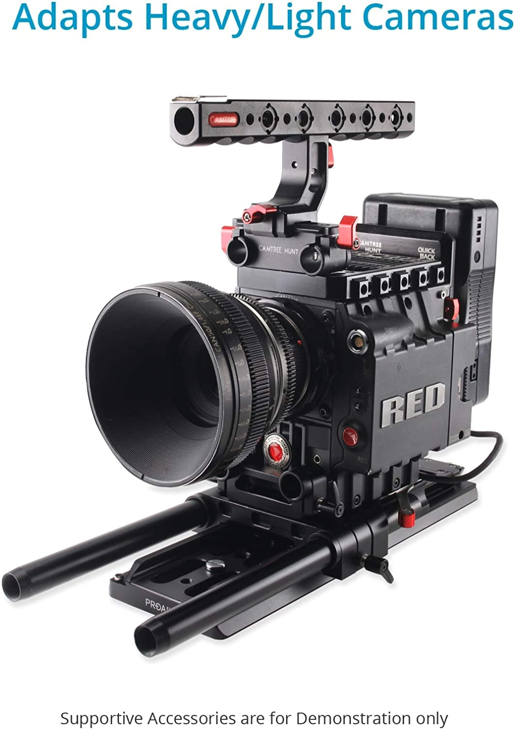 PROAIM 15mm Quick Release Camera Base Plate with Dovetail CNC Aluminum Made Baseplate with ARRI Standard Dovetail Tripod Plate for DSLR Video Camcorder Sony Nikon Canon RED BMCC Camera P-BPDP-15