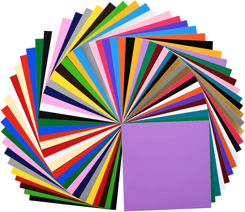 "40 Permanent Adhesive Vinyl Sheets 12/""x12/"" Silhouette Cricut Vinyl Sticker Paper"