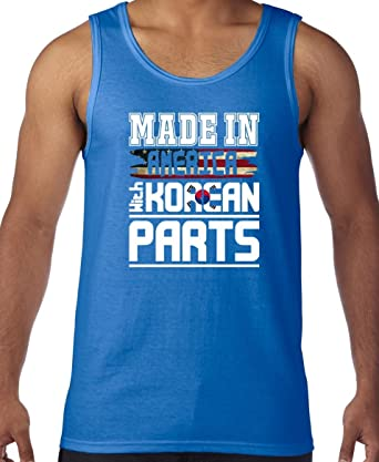 AW Fashions Made in America with Korean Parts Mens Tank Top (Small, Royal Blue