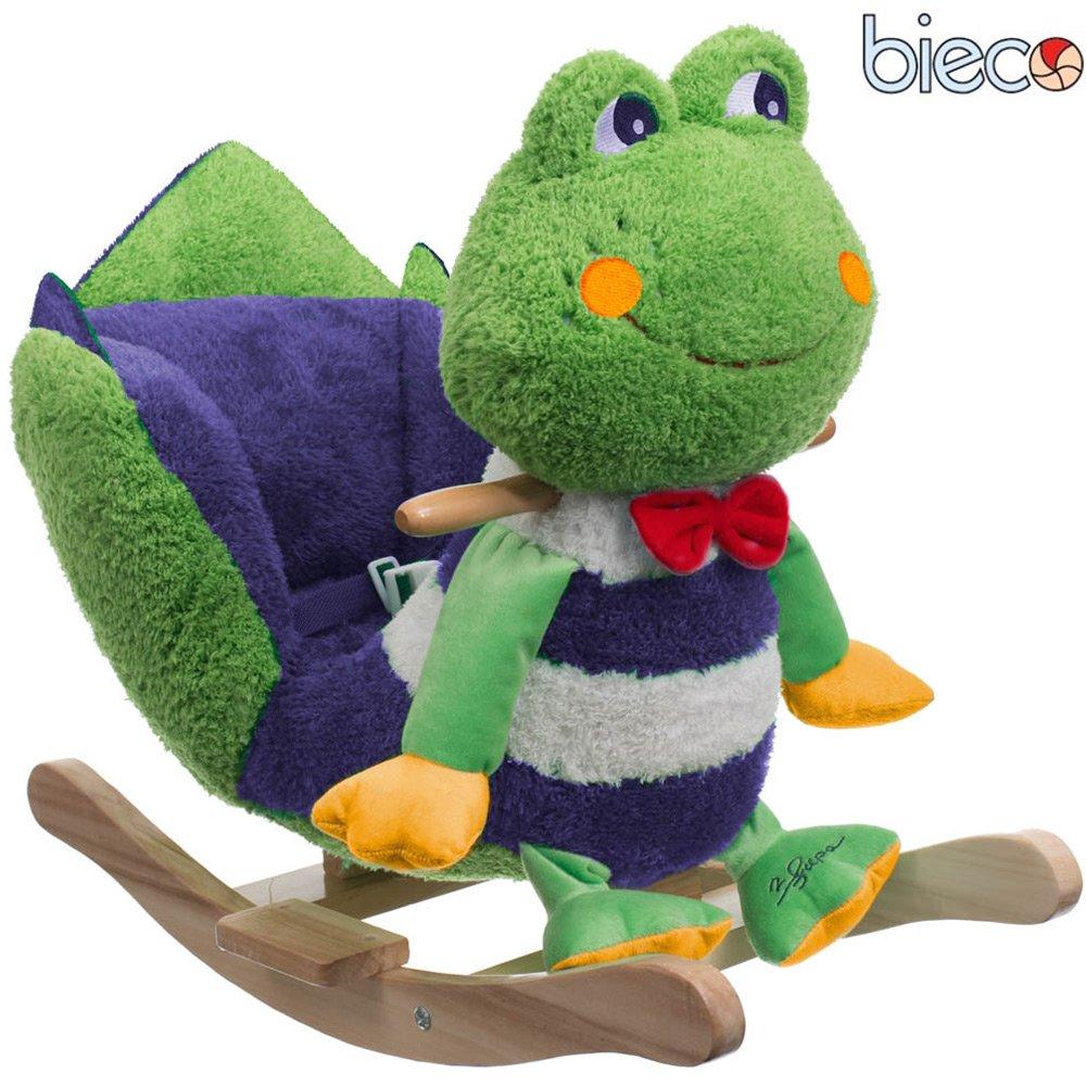 Plüsch Baby Schaukel Frosch Metallkern, gute Polsterung, weiches Kuschelfell: Schaukelpferd Schaukeltier Holz Babyschaukel Schaukel-Wippe