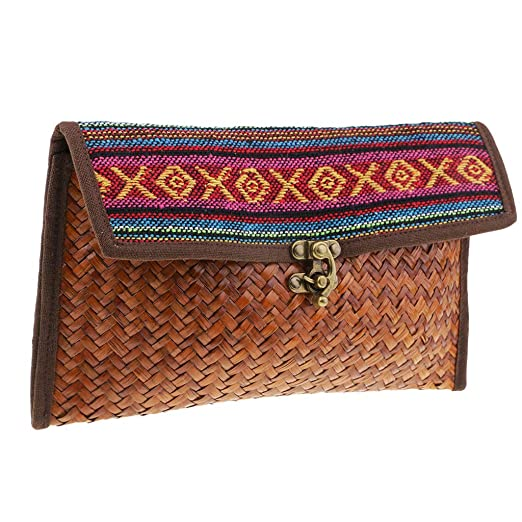 Amazon Baosity Women Straw Clutch Handbag Envelope Bag Hasp