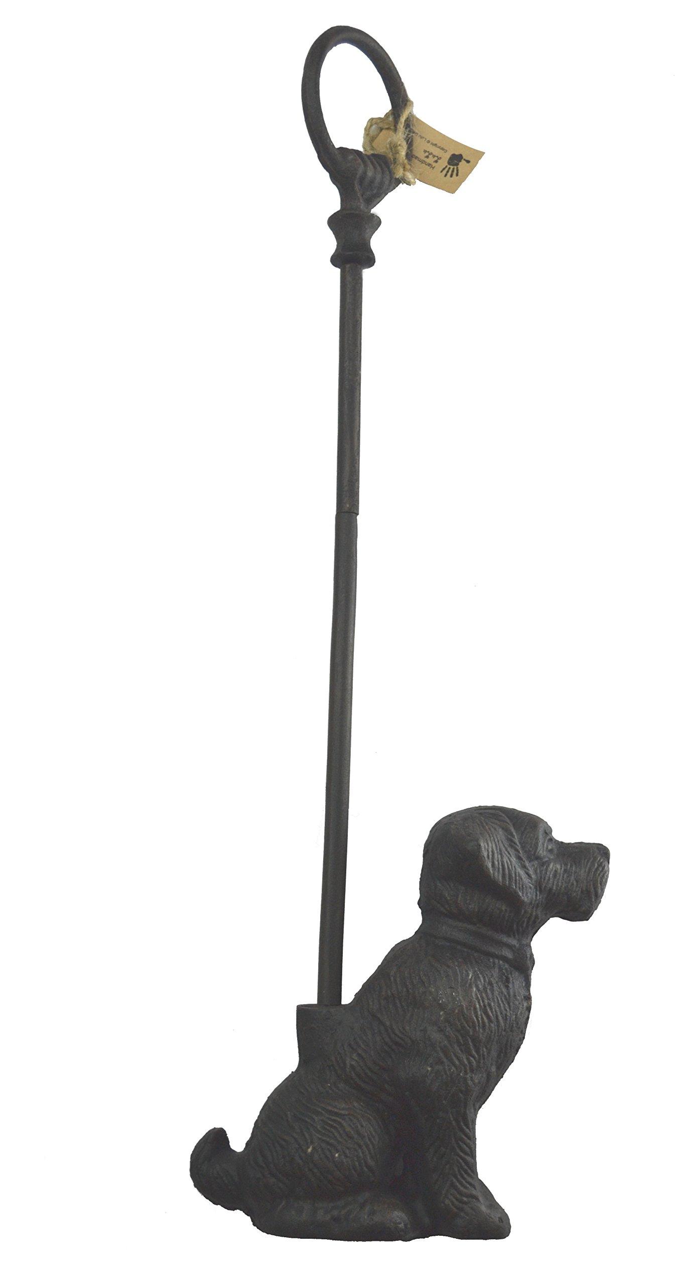 LuLu Decor, Cast Iron Decorative Dog Door Stopper with Rod, Door Stop (with Rod)