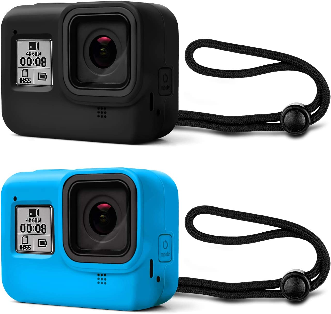 Kupton Protective Silicone Sleeve Cases + Lanyard Compatible with GoPro Hero 8