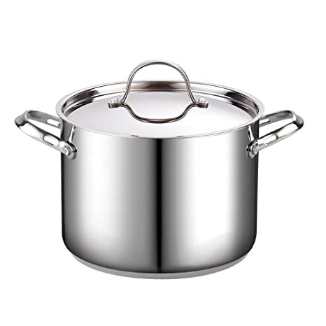 Amazon Cooks Standard 02519 8 Quart Classic Stainless Steel