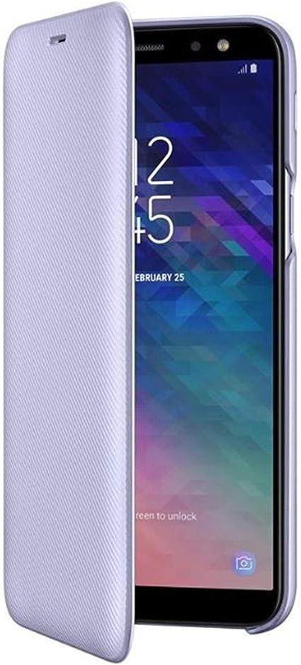 Samsung EF de wa600 Cartera Cover Para Galaxy A6 color morado ...