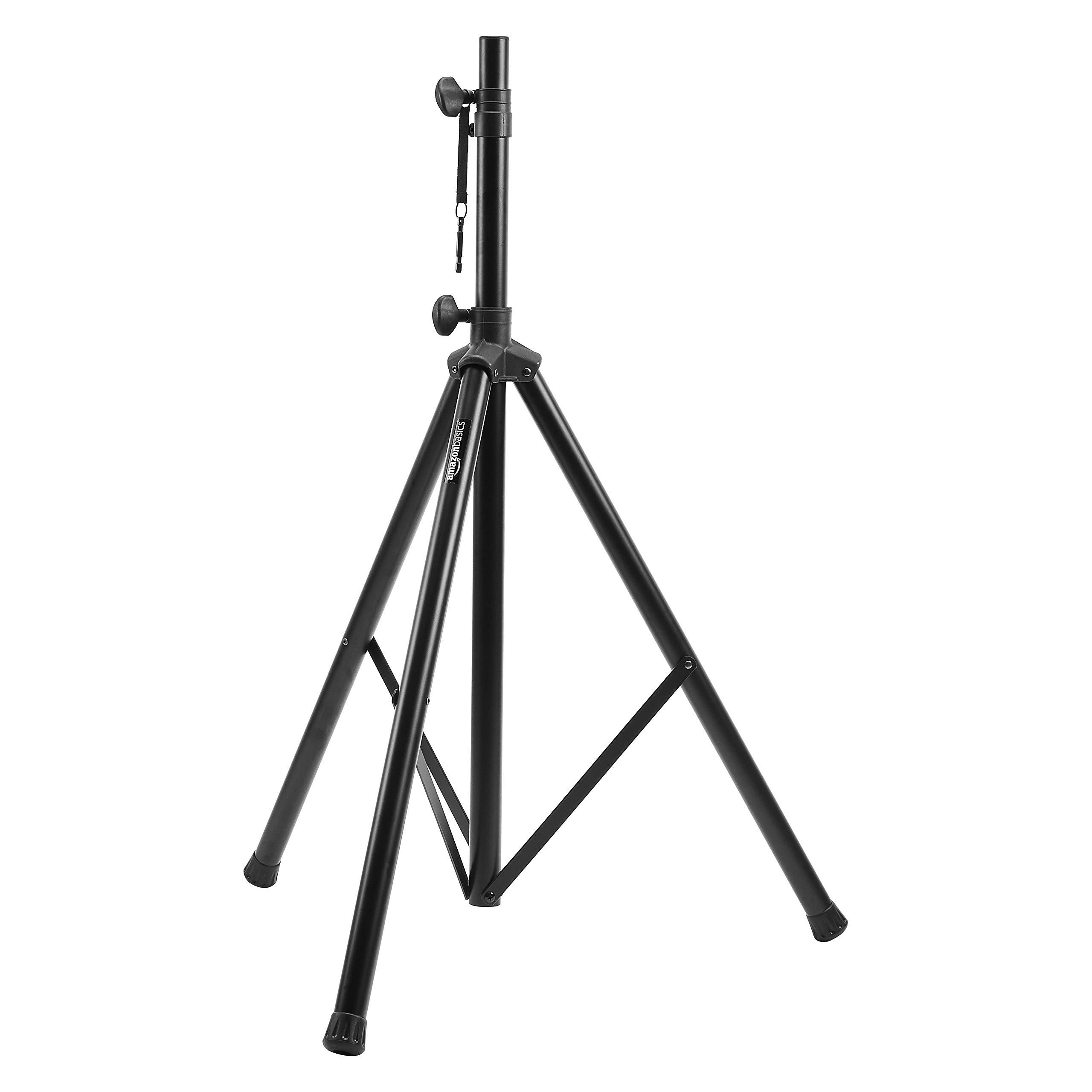 Amazon Basics Adjustable Speaker Stand - 4.1 to 6.6-Foot, Steel
