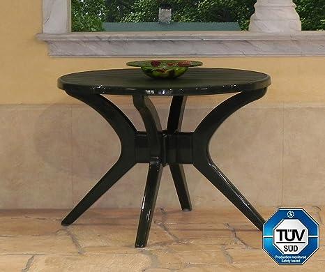 Steiner Milano Gartentisch Tisch Rund O100cm Wetterfest Grun Amazon