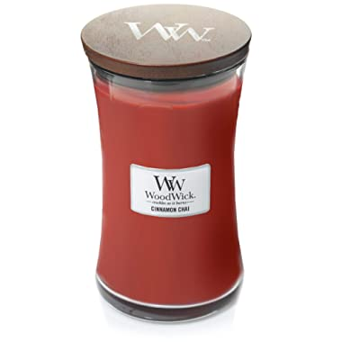 WoodWick Cinnamon Chai Pluswick Large Hourglass Candle, 22 oz.