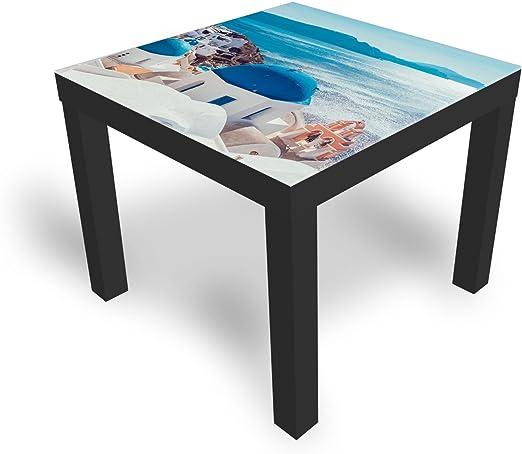 DekoGlas Cristal de IKEA Laca Mesa Decorativa, Mesa Auxiliar, coutsch Mesa, sofá Mesa con Tablero de Cristal Santorini Todos los tamaños: Amazon.es: Juguetes y juegos