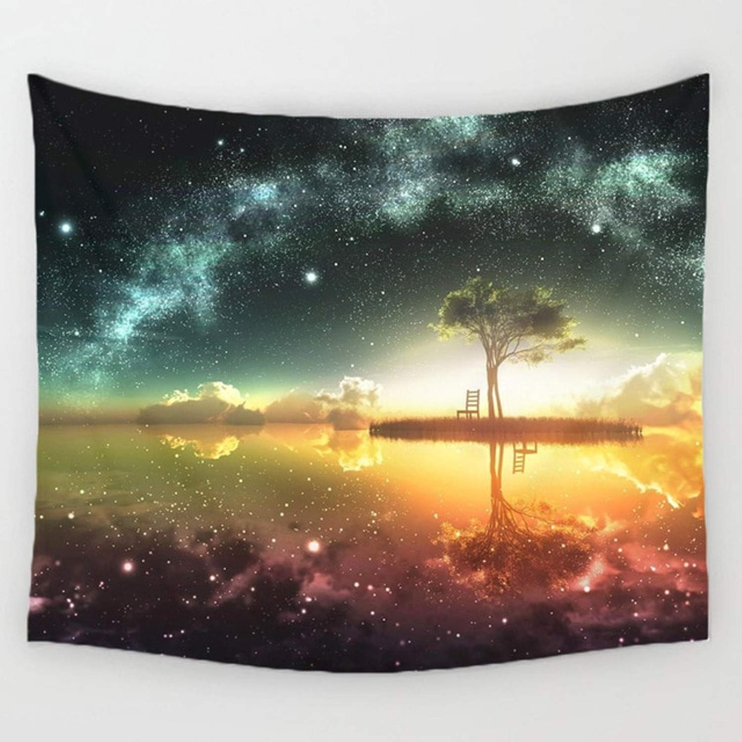 Amazon.com: Chitop Night Scenic Tapestry Wall Hanging Decor - Star Plant Printed Carpet Home Decor - Hanging Living Printing Wall Tapestry (150x130cm) ...