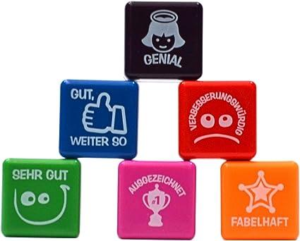 Pack 6 sellos motivación alemán: Amazon.es: Oficina y papelería