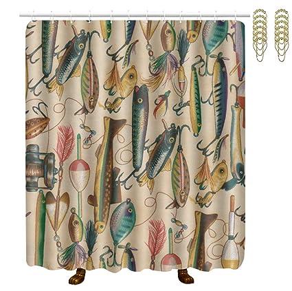 Amazon OKAYDECOR Mildew Resistant Bath Curtain Hooks