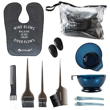 Amazon.com : HYOUJIN 11pcs DIY Hair Dye Coloring Kit Hair Dye ...