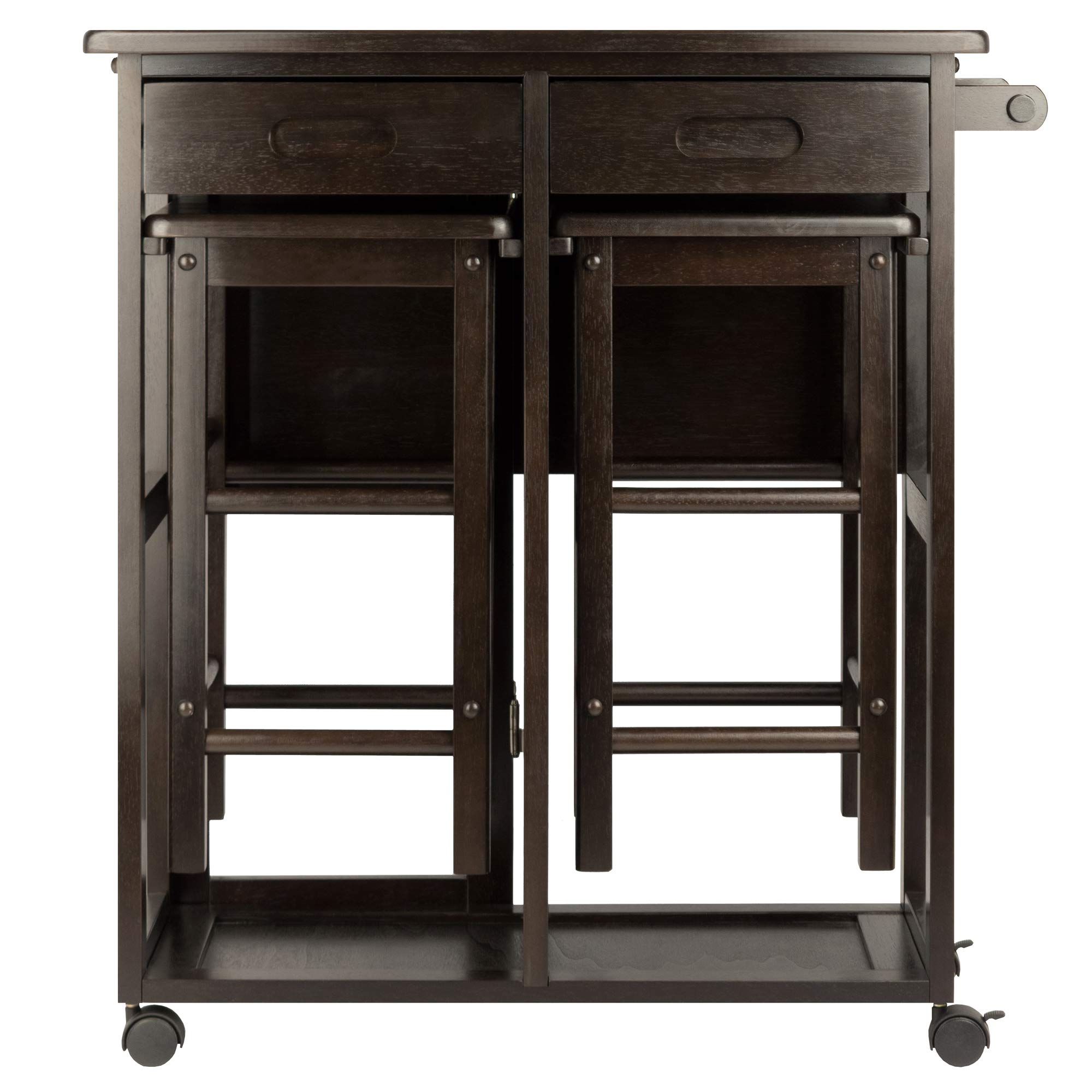 Winsome Wood 23330 Suzanne 3-PC Set Space Saver Kitchen, Smoke by Winsome Wood (Image #8)