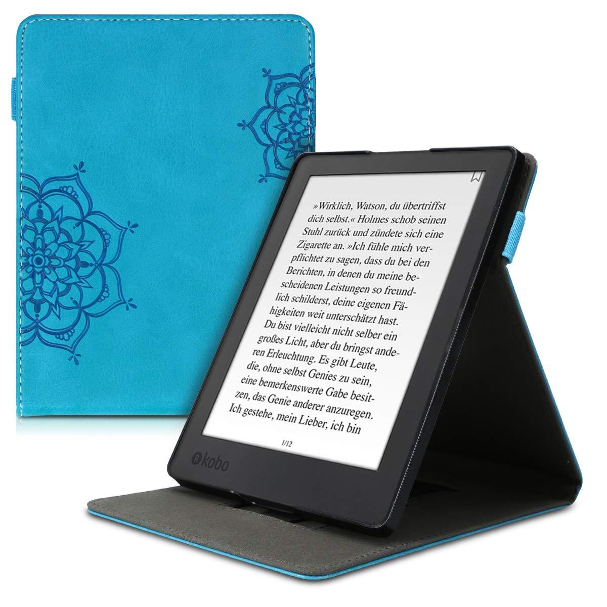 kwmobile Funda para Kobo Aura H2O Edition 2 Case Flip de Cuero sint/ético Carcasa con Tapa Vertical y Soporte para e-Book