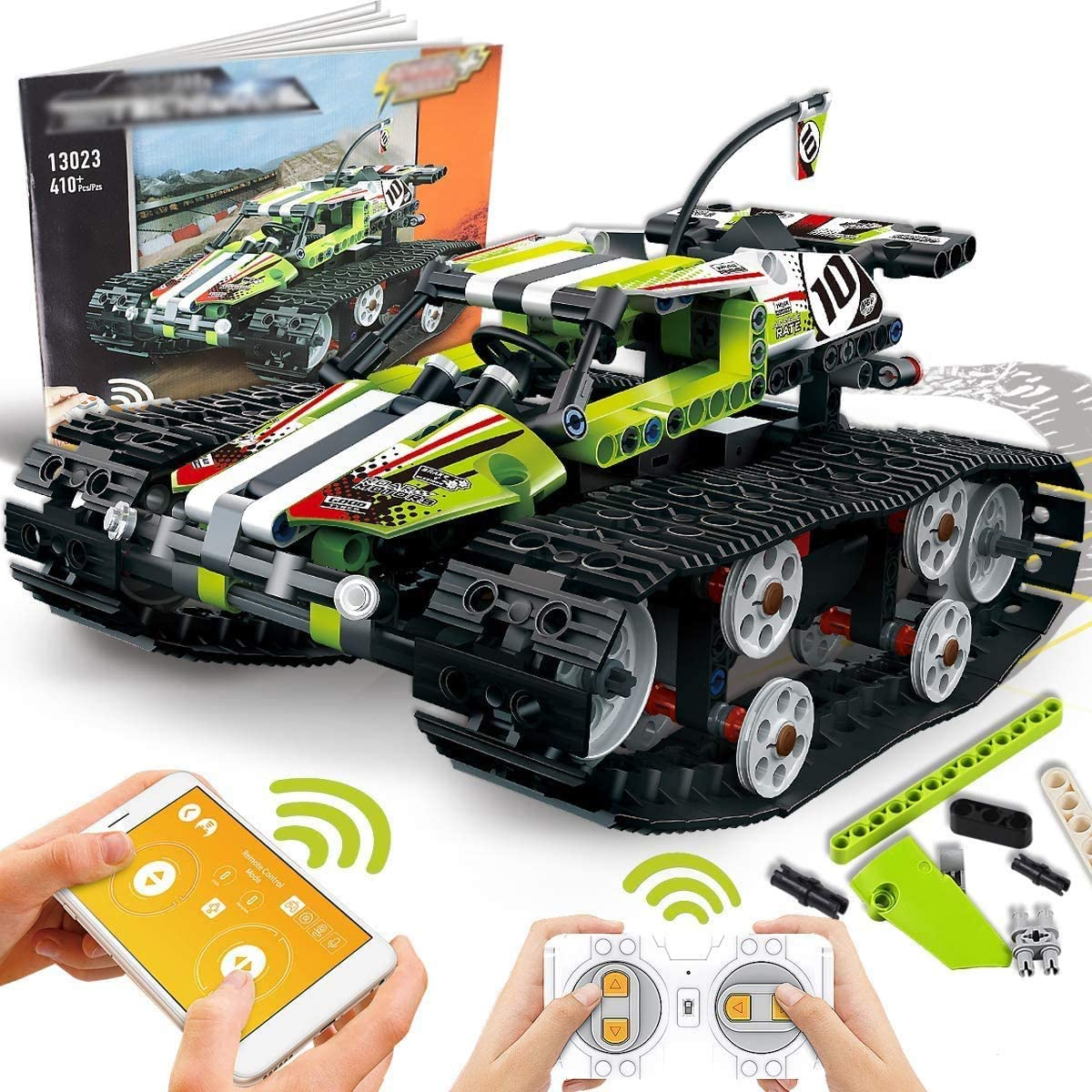 CYZMONI Building Blocks Boy Remote Control Car, Blocks Remote Control Racing Building Kit, Educational Learning Toys, Science Toys, Suitable for Children Aged 6-14