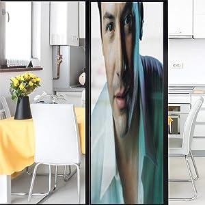 Keanu Reeves Window Stickers 3D Fashion Printing Sticker for Wall Glass Window Door Home Decor DIY 17.7x78.7inch(45x200cm)