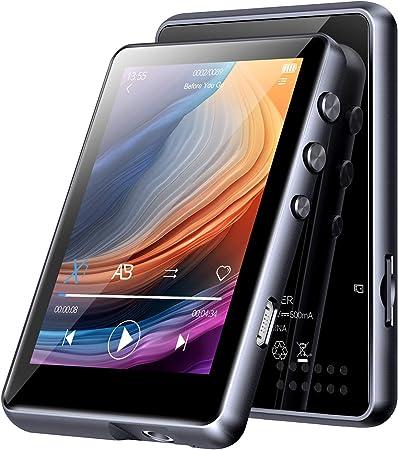 Bluetooth 5.0 MP3 Player 700mAh Akku FM Radio CFZC 16GB 2,5 MP3 Player Sport Voller Touchscreen HiFi Verlustfreier Ton E-Book Video Player f/ür Sport und Musik Liebhaber