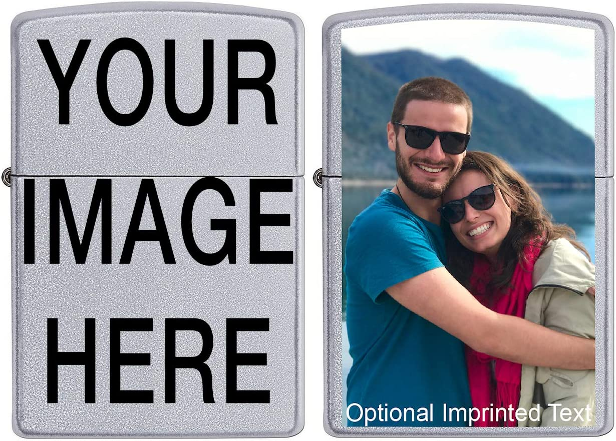 Custom ZIPPO! Personalize This Zippo Lighter with Your Image or Logo! Customized Zippo lighters Make a Great Birthday Gift Idea, Anniversary Gift Idea, Gift for Man or Woman, or a Cool Gift for You!