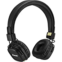 Marshall Major II Bluetooth Headphones, Wireless On-Ear Headphones with Built-in Microphone and Control Knob, Black
