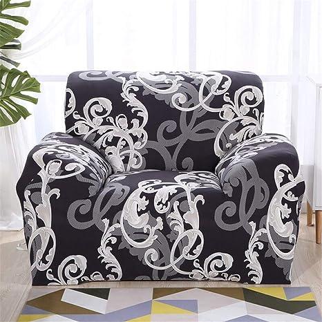 Amazon.com: Ranferuyk Funda de sofá a cuadros, elástica ...