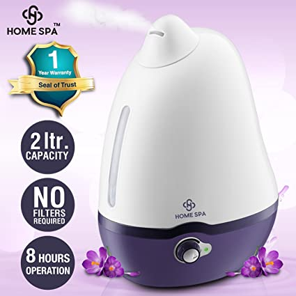 Home Spa Luxury Cool Mist Dolphin Humidifier for Adults and Baby Bedroom - 2 L
