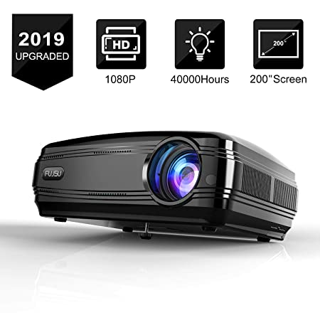 Beamer mit Laserpointer LED LCD Full HD 1080P 3500 Lux Projektor 200