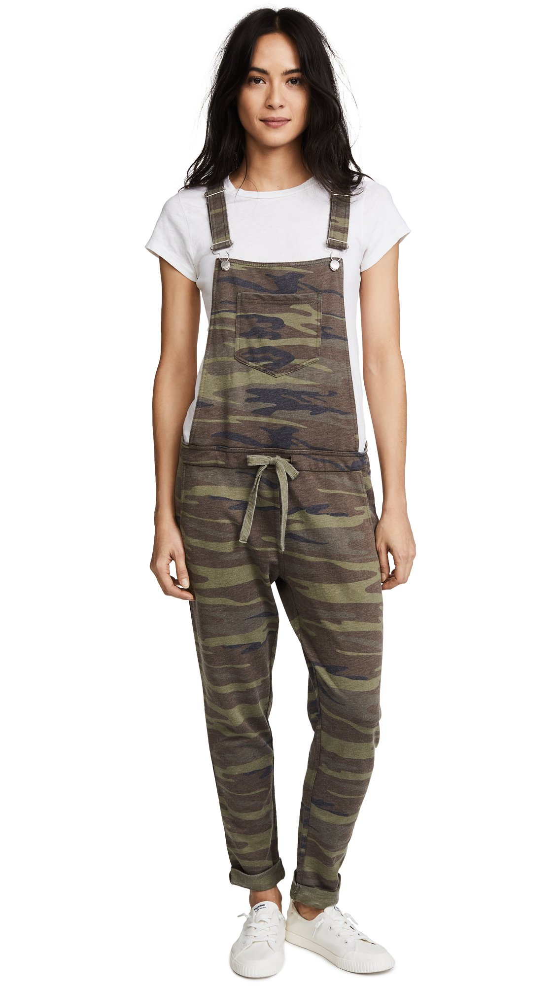 Z SUPPLY Women's The Camo Overalls, Camo Green, Medium