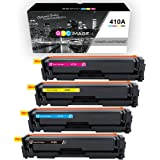 GPC Image 4 Pack Compatible Toner Cartridge Replacement for HP 410A CF410A CF411A (1 Black, 1 Cyan, 1 Magenta, 1 Yellow) for HP LaserJet Pro MFP M477fdw M452nw M452dw MFP M477fnw M452 M477 Printers