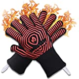 AZOKER Premium Extreme 1472°F Heat Resistant Oven Gloves - Silicone Non-Slip Insulated, Flexible, Soft - Protect Hands from H