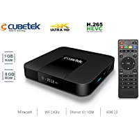 Cubetek Portable 4k Media Player with 1GB RAM, 8GB ROM, HDMI 2.0, H.265, Miracast, Dolby 5.1 Support, Model: CB.TX3-1GB