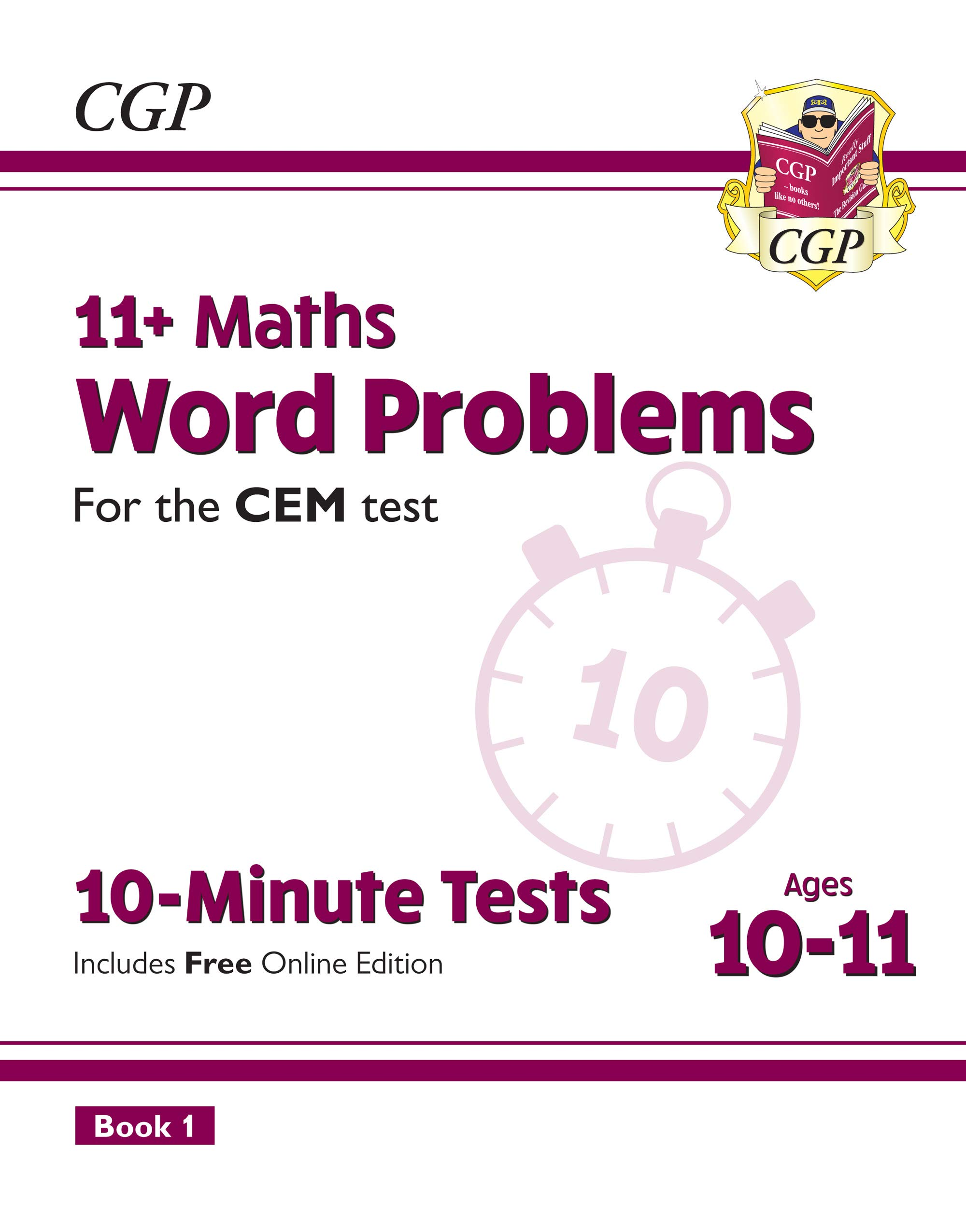 New 11+ CEM 10 Minute Tests  Maths Word Problems   Ages 10 11 Book 1  With Online Edition