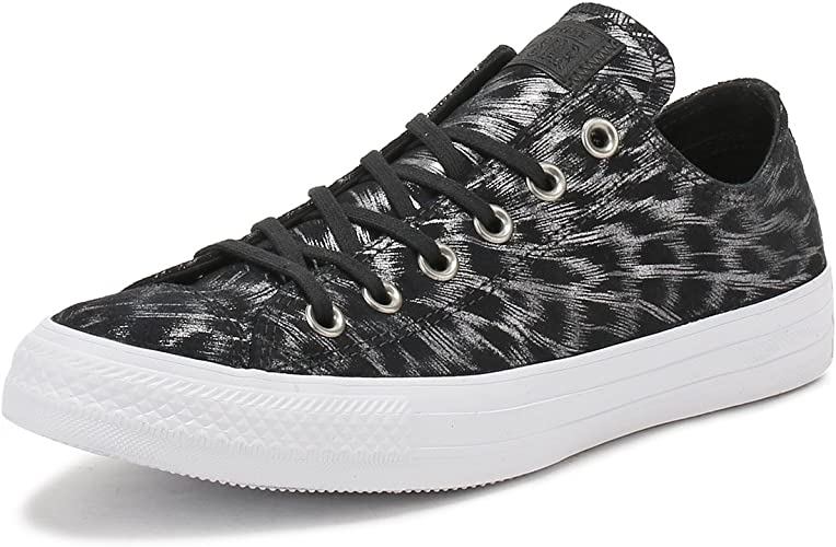 black shimmer trainers