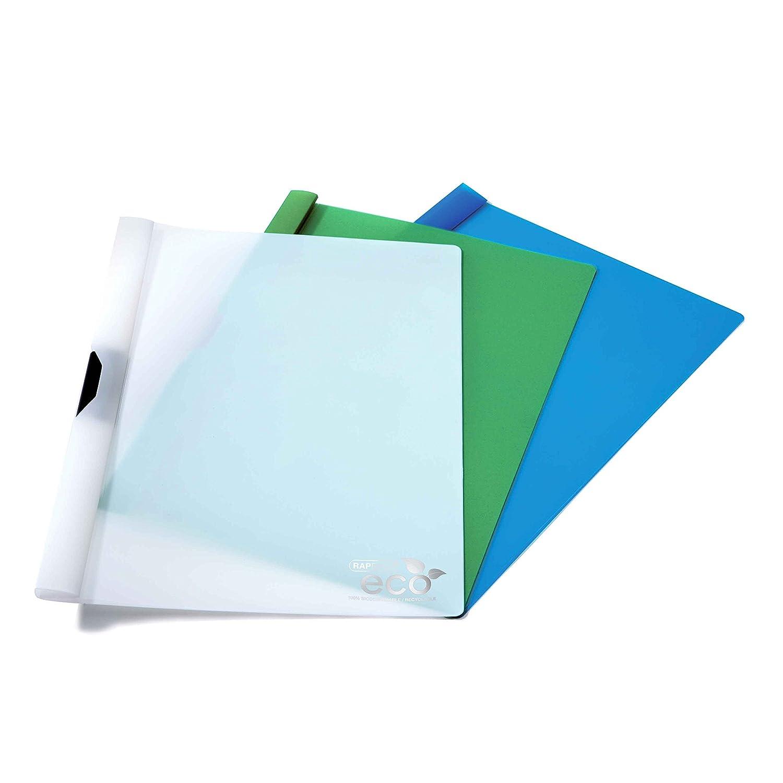 10 Pezzi Rapesco 1100 Raccoglitore con Clip Ecologico A4 Colori Assortiti