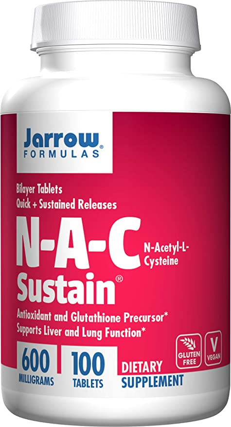 Amazon.com: Jarrow Formulas N-A-C Sustain, Supports Liver and Lung Function, 600 mg, 100 Sustain tabs: Health & Personal Care