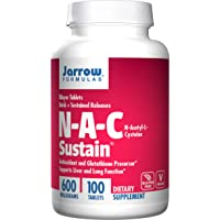 Jarrow Formulas N-A-C Sustain, Supports Liver and Lung Function, 600 mg, 100 Sustain...