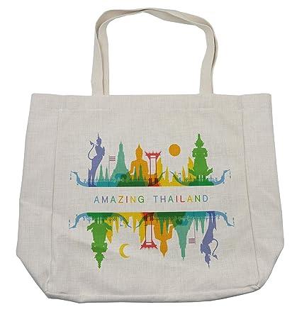 c7f0a9f6f722 Amazon.com - Lunarable Thai Shopping Bag, Amazing Thailand Bangkok ...