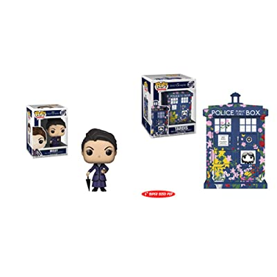 "Funko Pop! TV Doctor Who Set of 2: Tardis - Clara Memorial 6"" and Missy: Toys & Games"
