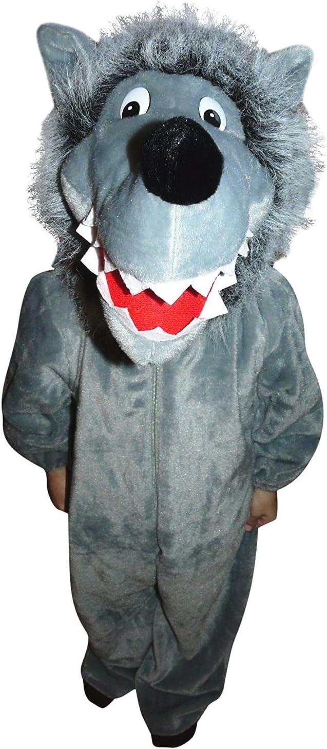 Wolf-Kost/üme W/ölfe Fasching Karneval Wolf-Kost/üm Babies Kinder-Faschingskost/üme Geburtstags-Geschenk Weihnachts-Geschenk 86-92 Kleinkinder-Karnevalskost/üme F49 Gr f/ür Klein-Kinder