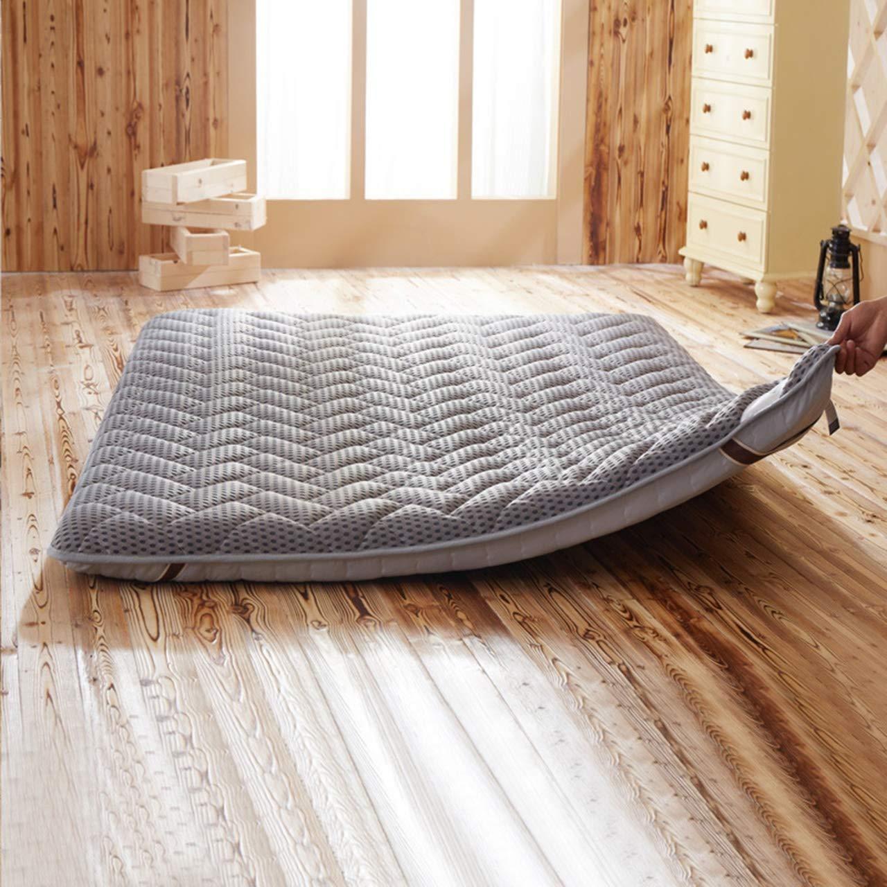 Wanggang Student Dorm Mattress Breathable Tatami Floor Mat Double Futon Mattress Topper Portable Sleeping Pad Non-Slip Foldable Cushion Mats (Color : B, Size : 90x190cm) by Wanggang