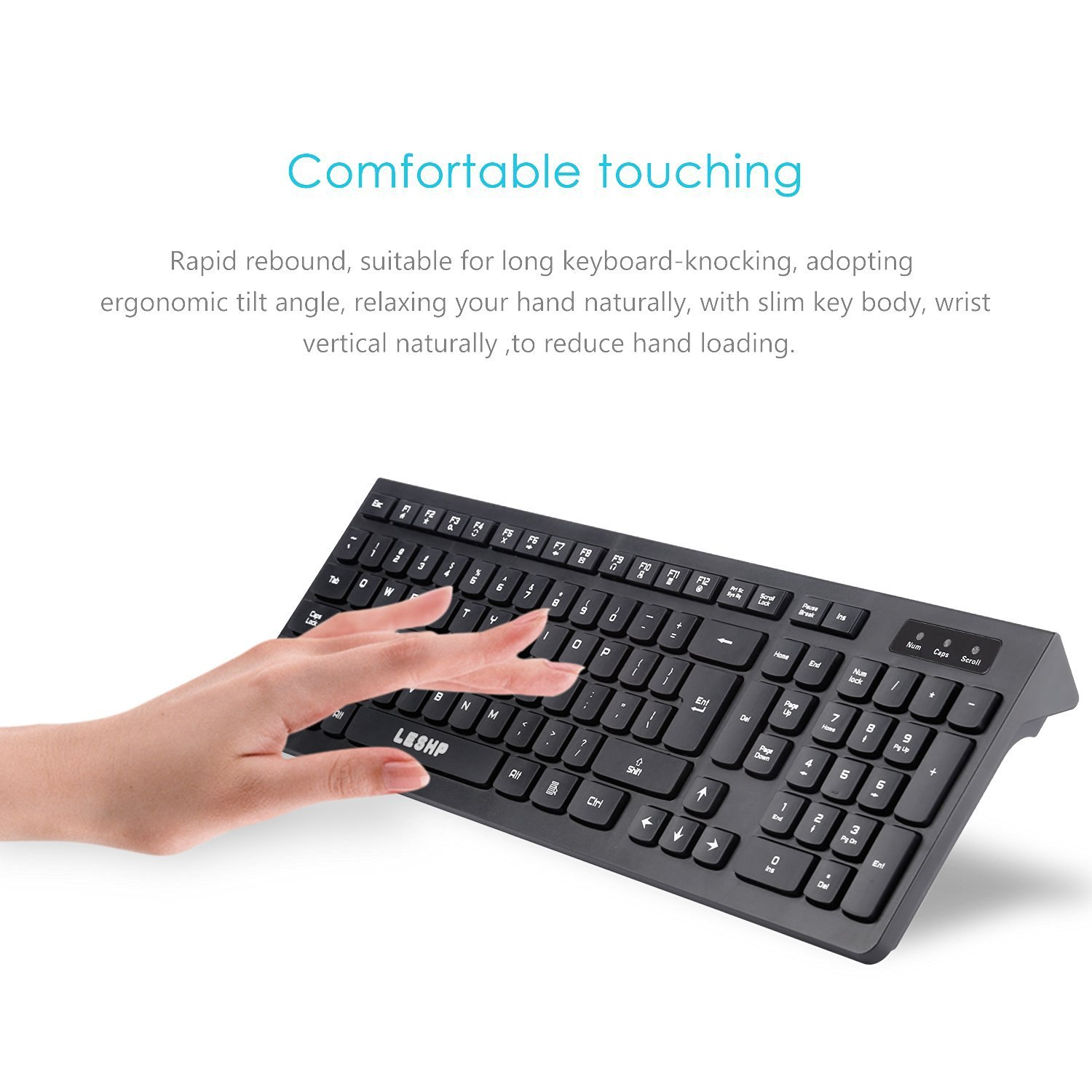 Amazon leshp wired keyboard comfortable full size gaming amazon leshp wired keyboard comfortable full size gaming keyboard with soft touch black computers accessories buycottarizona Image collections