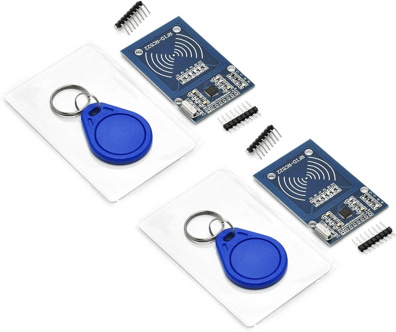 S50 Blank Card RFID Kit Key Ring for Arduino Raspberry Pi Mifare RC522pack 2 RF IC Card Sensor Module