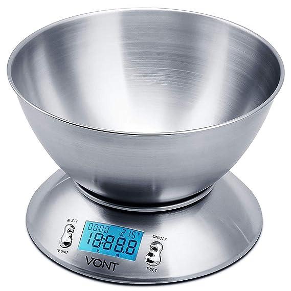 Amazon.com: Balanza digital de cocina de 11 libras Vont ...
