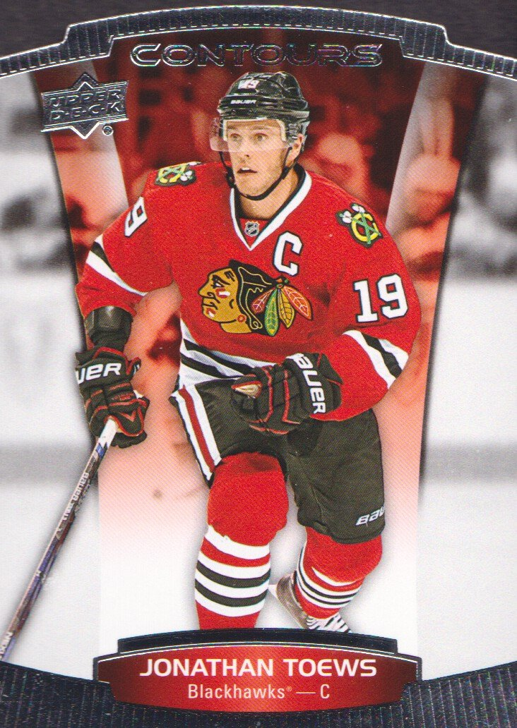 2015-16 Upper Deck Contours Hockey  1 Jonathan Toews Chicago Blackhawks at  Amazon s Sports Collectibles Store 0a95d9f56