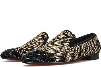 23986694a53 Merlutti Gold Black Rhinestones Crystals Black Suede Men Prom Wedding Shoes