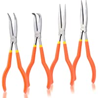 "Neiko 02105A 11"" Long Nose Plier Kit with Soft Grip, 4 Piece"